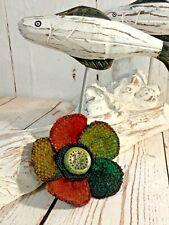 handwoven irish donegal handwoven tweed lapel hat coat pin rainbow orange green