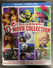 DreamWorks 10-Movie Collection Blu-ray + Digital Shrek Trolls Croods Dragon Home
