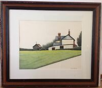 Marilyn Hagberg   painting -signed , 1981 Gallery Label on verso
