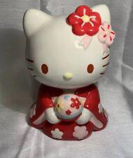 A Very Cute Ceramic Sanrio 2009 Hello Kitty Coin Bank Piggy Bank