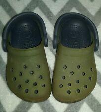 Kids Junior Crocs Chameleons Translucent Clog 6/7 C Lime Green / Blue