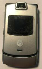 READ FIRST!! Motorola Razr V3 Verizon Silver Cell Phone Fast Shipping MINT Used
