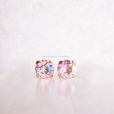 *RARE* $110 14K ROSE GOLD PINK UNICORN CRYSTAL STUD EARRINGS BHLDN ANTHROPOLOGIE
