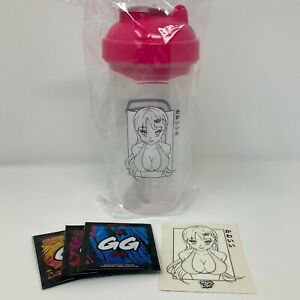 GamerSupps GG Waifu Cup Shaker IX: Mischievous Cup + Sticker Pink IN STOCK
