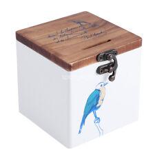 Wooden Coin Money Box Piggy Bank Retro Wood Storage Box Saving Box Kids Gift