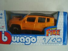 NEW B BURAGO MINIATURE JEEP RENEGADE 2017 1/43 NEW IN BOX