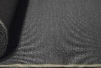 "Vintage Coal Grey Canvas Tweed Fabric 56""W Seat Upholstery Church Pew Auto"
