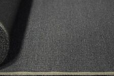 Vintage Coal Grey Canvas Tweed Fabric 56