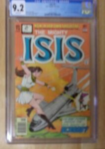 MIGHTY ISIS #1 1976 SHARP CGC 9.2 WHITE PAGES,TV SERIES,THE SCARAB
