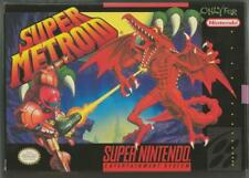 ORIGINAL Vintage 1994 SNES Super Metroid CIB w/ manual + poster + ad