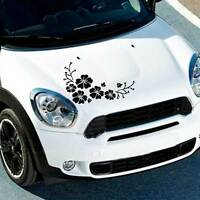 Adesivo sticker FIORI vinile auto car tuning styling FLOWERS automobile NERO