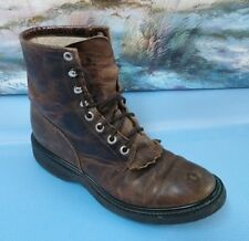 Justin Black Boots Size 4D Women Women's Leather Style 0880