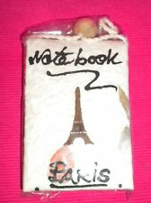 "Hand Made ""Paris"" Mini Flip Note Pad With Rope To Hang."