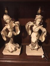 New listing Antique Oriental Figurine Statues Dancers Table Lamps