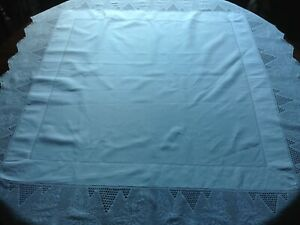 Vintage tablecloth with wide lace border