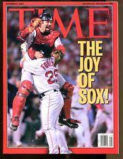2004 Time Magazine No Label Red Sox World Series Varitek Foulke Ex 35131