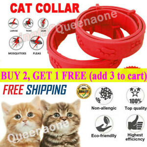 Adjustable CAT Flea Neck Collar for Dogs Cats Flea and Tick 8 Months Protection✈