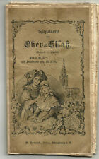 Ober-Alsace. Rare Grande carte couleur entoilée de 1901.Heinrich à Strasbourg.