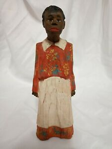 ADRIAN R.WOODALL (1888-1969) Folk Art Carved and Painted Wood Figure Signed