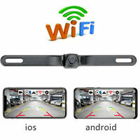 170°WiFi Car License Plate Frame Wireless Backup Rearview Camera Night Vision