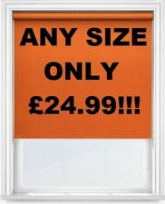 QUALITY ORANGE ROLLER BLINDS MADE TO MEASURE!!! ANY SIZE ONLY £24.99!!!