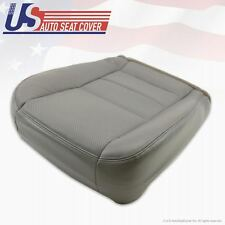 02 -07 Ford F250 F350 Lariat PASSENGER Bottom Leather Seat Cover Gray Perforated