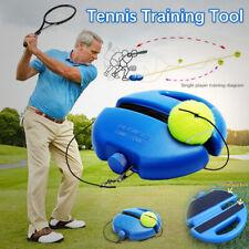 Одиночный теннисный тренер обучение практика отскок шары обратно базовый инструмент с мячом