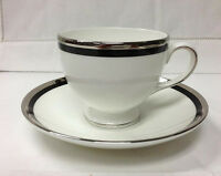 """WEDGWOOD """"REFLECTION"""" LEIGH TEACUP & SAUCER BONE CHINA BRAND NEW MADE IN ENGLAND"""