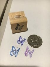 CUTE! miniature rubber stamps, of a butterfly and ladybug