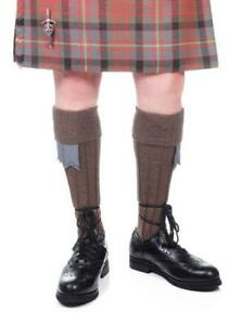 Weathered Brown Kilt Hose - Made in Scotland
