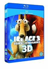 Ice Age 3: Dawn of the Dinosaurs 3D (3D + 2D Blu-ray, 2 Discs, Region Free) NEW