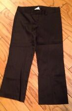 NWT 2 Laundry $297 S Segal Womens Dress Satin Pants Slacks Cropped GLAM Holiday