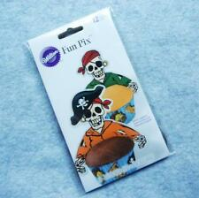 WILTON Fun Pix Cupcake Wrap Decoration Topper Pirate Zombies NEW Package of 12