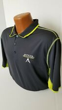 """Antigua TOUR ISSUED Polo """"PERFORMANCE APPAREL"""" TOUR PLAYERS Gray/HiYellow Polo L"""