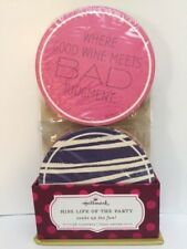 New! HALLMARK 24 FUN SAYING PARTY COASTERS! GREAT FOR WINE TASTING AS WELL
