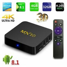 Smart MX10 Android 8.1 TV Box 4GB 32GB RK3328 4K H.265 HD Media Player WIFI UK