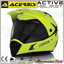 NEUF CASQUE INTEGRAL ACERBIS ACTIVE JAUNE FLUO MOTO CROSS ENDURO SCOOTER S