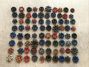 VINTAGE WATER FAUCET KNOB VALVES HANDLE STEAMPUNK INDUSTRIAL CRAFTS lot of 80