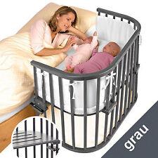 Babybay Maxi, Matratze und Nestchen,grau lackiert,Lagerware,sofort lieferbar