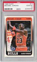 1988 Fleer #17 Michael Jordan psa 10 gem mint