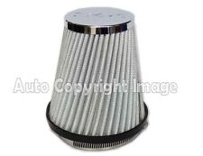 Universal Silver Chrome Mesh Design Slim Car Sports Air Filter Induction Kit
