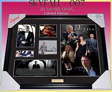 NEW! SKYFALL MOVIE MEMORABILIA DANIEL CRAIG SIGNED FRAME, LIMITED EDITION w/COA