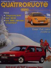 Quattroruote 458 1993 - Test Cinquecento - Saab 900 SE - Fiat Coupè   [Q37]