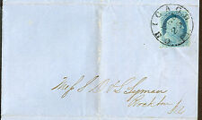 (1851) 1¢ blue, type II tied Chicago on Dole, Rumsey Forwarding Agents Circular