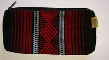 Cosmetic Mexican Makeup Bag Black or Pink Southwest Aztec with zipper 5