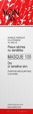 Yonka Masque 105 Clarifying Mask 3.5oz(100ml) Dry Sensitive Skin Fresh New