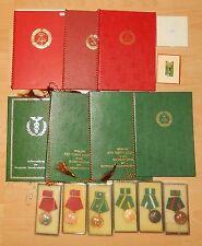 9 DDR Urkunden mit Medaillen der Zoll für 1.Person K368
