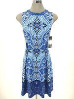Chetta B NWT Cobalt Blue Fit & Flare Elegant Dress Sleeveless sz 6 8 10 12 14 16