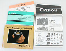Canon Product Guides, Set Of 4