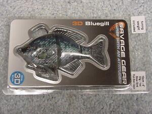 """SAVAGE GEAR 4"""" 3D BLUEGILL BSS-100-PBC PHOTO BLACK CRAPPIE AQ4300 LURE NIP"""